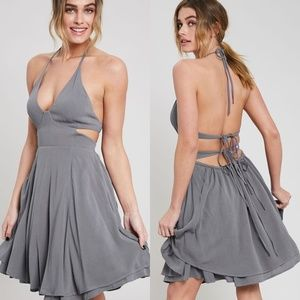 'Night And Day' Halter Dress
